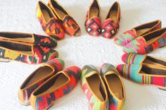 Kilim shoes. Size 37 US size 6.5 by kilims on Etsy, €96.00 Comfy shoes make all the difference!