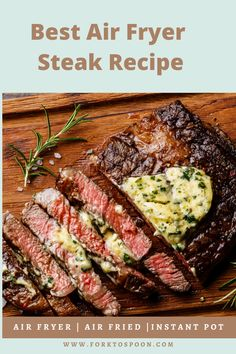 Making steak in the air fryer has never been the same, whether it& rib eye, prime rib or roast, this is a fail-safe recipe. Air Fryer Recipes Breakfast, Air Fryer Dinner Recipes, Air Fryer Oven Recipes, Steak Dinner Recipes, Power Air Fryer Recipes, Air Fryer Recipes Appetizers, Prime Rib, Beef Recipes, Cooking Recipes
