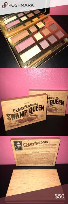 Graveyardgirl Swamp Queen Graveyardgirl Swamp Queen. Selling this one I received for a Christmas gift because I already own one. I lost my card that comes in it so I'm keeping the one from this box though. This is probably one of my favorite palettes I own! I was tempted to keep them both but figured I could use the money. tarte Makeup