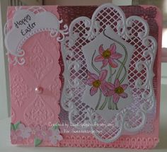 SweetStamps Challenge 2/26/13 Embossing Folder + Die + Stamp; DT Linda