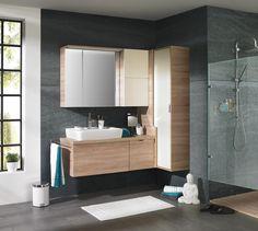 elegantes badezimmer in grau und modernem design von novel, Badezimmer
