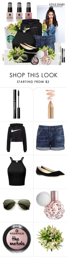 """""""Untitled #137"""" by oliviaboston ❤ liked on Polyvore featuring Victoria's Secret, NIKE, Citizens of Humanity and Jimmy Choo"""