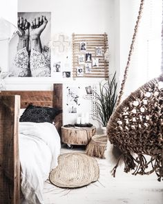 Boho Bedroom Decorating Ideas 2018 - Better Homes and Gardens Small Room Bedroom, Bedroom Decor, Bedroom Ideas, Whimsical Bedroom, Bedroom Turquoise, Teen Decor, Deco Boheme, Nature Decor, Interiores Design