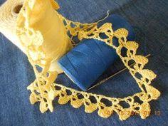 Crochet Orilla Abanicos Pequeños - YouTube