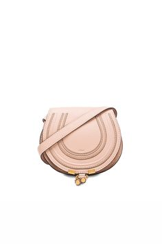 chloe small marcie saddle bag blush nude