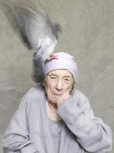 Portrait of Louise Bourgeois, French-American artist and sculptor.