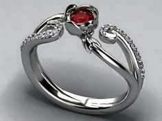 Image de ring, red, and diamond