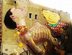 STREET ART - MURAL ŁÓDŹ ul.Roosevelta Poland, Street Art, Painting, Painting Art, Paintings, Painted Canvas, Drawings