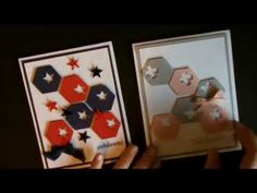 cardmaking video: Hexagon Honeycomb Card with Deb Valder ... luv Deb's tips for making things easy and good looking ... great video!  ... YouTube