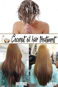 Coconut oil hair treatment: