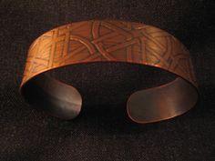 Etched Copper Bracelet.
