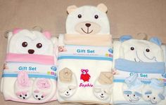 Baby Personalised Embroidery Blanket Cap & Booties Gift Set Any Name DOB Weight