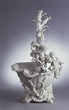 Group  Attributed to Domenico Bosello   Date: ca. 1786 Culture: Italian (Le Nove) Medium: Terraglia (creamware) Dimensions: Overall: 15 x 7 1/2 in. (38.1 x 19.1 cm)