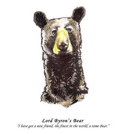 """Lord Byron, favorite Romantic poet of Core's Professor Stephanie Nelson, among others, reportedly kept """"a tame Bear"""" during his time as a student at Trinity College.  (Note: Core does not endorse the keeping of unauthorized pets, exotic or otherwise, in residence halls.)"""