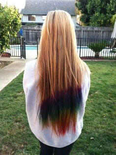 color hair , love the way this looks. First straight one I've seen that looks good!
