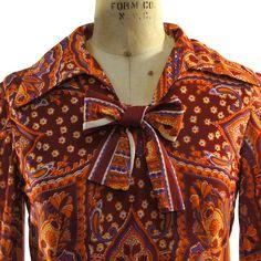 70s Mod GoGo Girl Dress / Psychedelic Paisley by SpunkVintage, $42.00