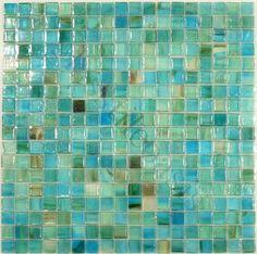 """Botanical Glass  5/8"""" x 5/8"""", 5/8"""" x 5/8"""", Green, Glossy & Iridescent, Green, Glass Tiles"""