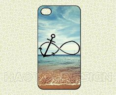 Infinity Anchor in Beach iPhone 4 case/iPhone 4s case Infinity iPhone 4 case Anchor iPhone 4 case Beach Cover Skin case for iPhone 4 case by haoyoudesign, $6.99