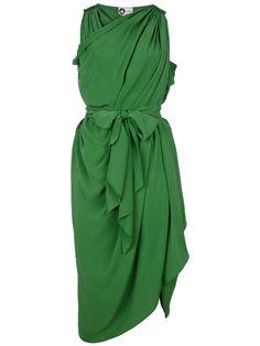 LANVIN green wrap dress