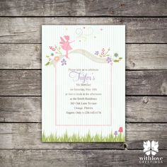 Fairy Party Invitation by withlovegreetings on Etsy, $15.00