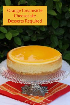 Orange Creamsicle Cheesecake - Desserts Required recipes for two recipes fry recipes Orange Cheesecake Recipes, Best Cheesecake, Cheesecake Desserts, Fun Desserts, Delicious Desserts, Dessert Recipes, Yummy Food, Orange Creamsicle Cheesecake Recipe, Creamsicle Cake