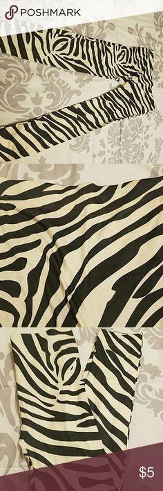 Leggings Zebra print leggings thick Pants Leggings