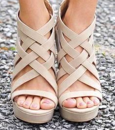 Gorgeous nude strappy sandals