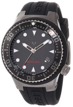 Swiss Legend Women's 11044D-GM-01 Neptune Black Dial Black Silicone Watch * See this great watch.