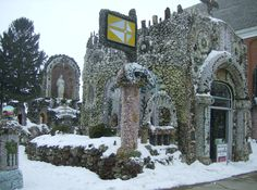 The Dickeyville Grotto, though not as mysterious, is an amazing place. If you've never been, it is worth the trip.