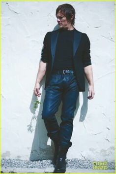 Norman in leather pants. Someone up there likes me