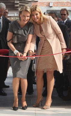"Princess Mathilde and Princess Maxima of Netherlands inaugurate ""M"" Museum"