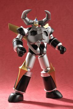 Gaiking Miyazawa Black (aka Gladiador), Ltd Edition, de toybot studios Combattler V, Robot Cartoon, Japanese Robot, I Robot, Mecha Anime, Super Robot, Robot Design, Vinyl Toys, Retro Toys