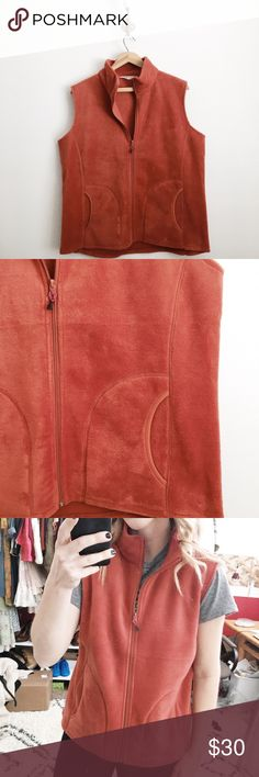 Woolrich fleece vest New without tags. Muted red color. Size large. Woolrich Jackets & Coats Vests