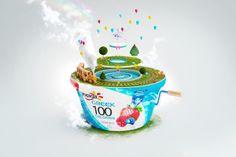 Yoplait Greek 100 Surprise by Renaud Futterer, via Behance