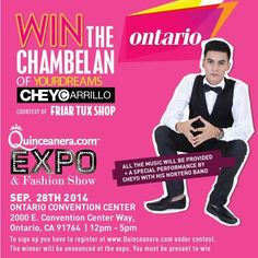 Enter to win Cheyo Carrillo as the main Chambelan for your Quinceanera!  http://www.quinceanera.com/enter-to-win/do-you-want-cheyo-carrillo-to-be-your-perfect-chambelan/?utm_source=facebook&utm_medium=contest&utm_campaign=19-cheyo-chambelan