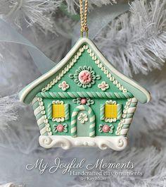 Casa de jengibre en arcilla polimerica - Handcrafted Polymer Clay Gingerbread…