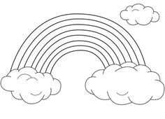 rainbow clouds coloring pages for kids printable rainbows coloring pages for kids - Coloring Page Rainbow Clouds