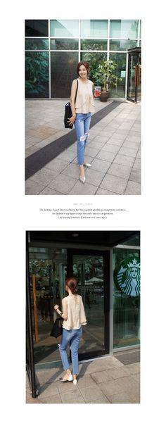 ウォッシュリップドジーンズ・全2色パンツ・ジーンズ 大人のレディースファッション通販 HIHOLLIハイホリ [トレンドをプラスした素敵な大人スタイル]