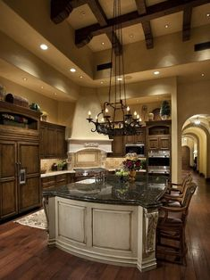 Mediterranean Tuscan Kitchen Design