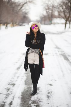 Winter shorts outfit  #americaneagle #boots #cardigan #pinksunglasses #topshot