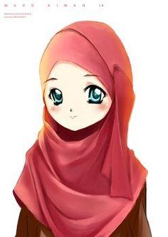 Muslimah OC 2.0 - COLOURED by alfi-ramadhani on DeviantArt