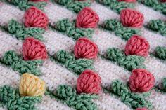 Rosetas pequeñas,patrón volumétrico a crochet,