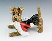 Lakeland Terrier Ornament with Christmas Lights