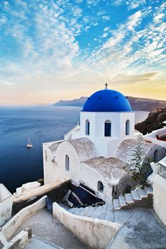 If you see blue domed churches, you're in Santorini. Oh The Places You'll Go, Places To Travel, Travel Destinations, Places To Visit, Santorini Grecia, Santorini Island, Greece Travel, Greek Islands, Belle Photo