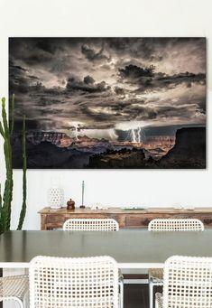 Beautiful lightning storm photograph