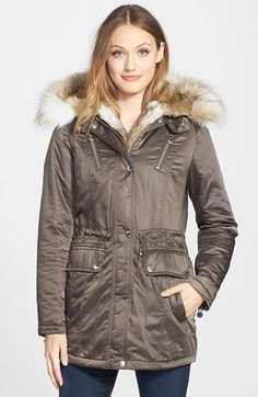 Laundry by Shelli Segal Removable Faux Fur Trim Parka available at #Nordstrom