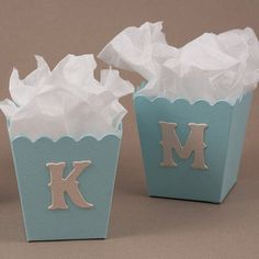 Wedding favors were never so cute and easy to create. Place these Mini Popcorn Boxes by the candy bar at your event or simply place at each place setting with just the right amount of sweets in each box.