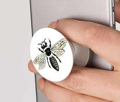 Bee Pop Socket - Phone Grip - Floral - Pop up Phone Holder - Ring Stand - iPhone - Samsung - Huawei - Custom