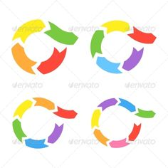 Color Circle Arrows Set