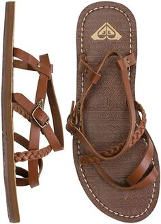 Brown leather strapped sandals